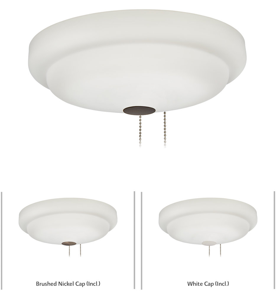 """Universal 3.75"""" Fan Light Kit With Frosted Glass"""