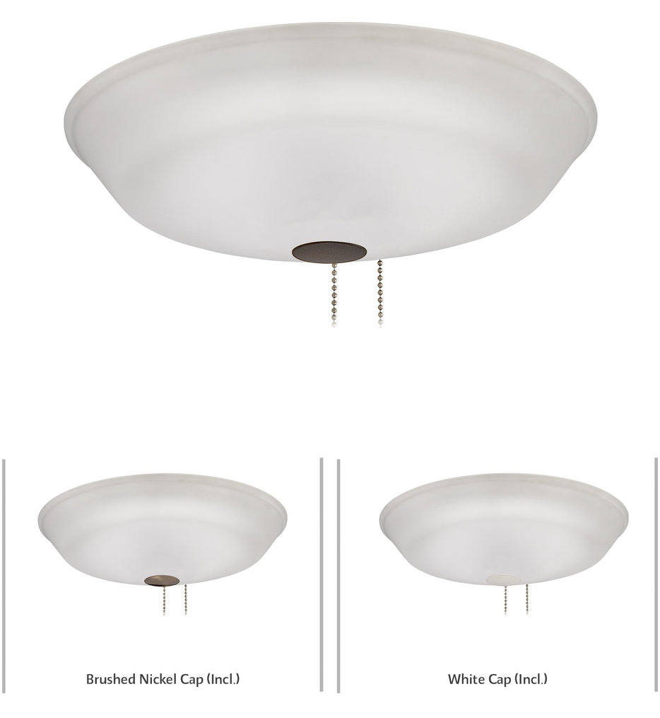 """Universal 3.75"""" Fan Light Kit With Etched Glass"""