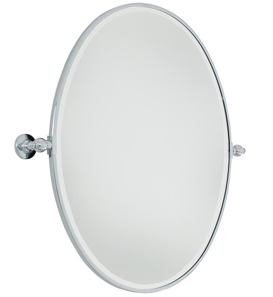 Beveled Large Oval Mirror