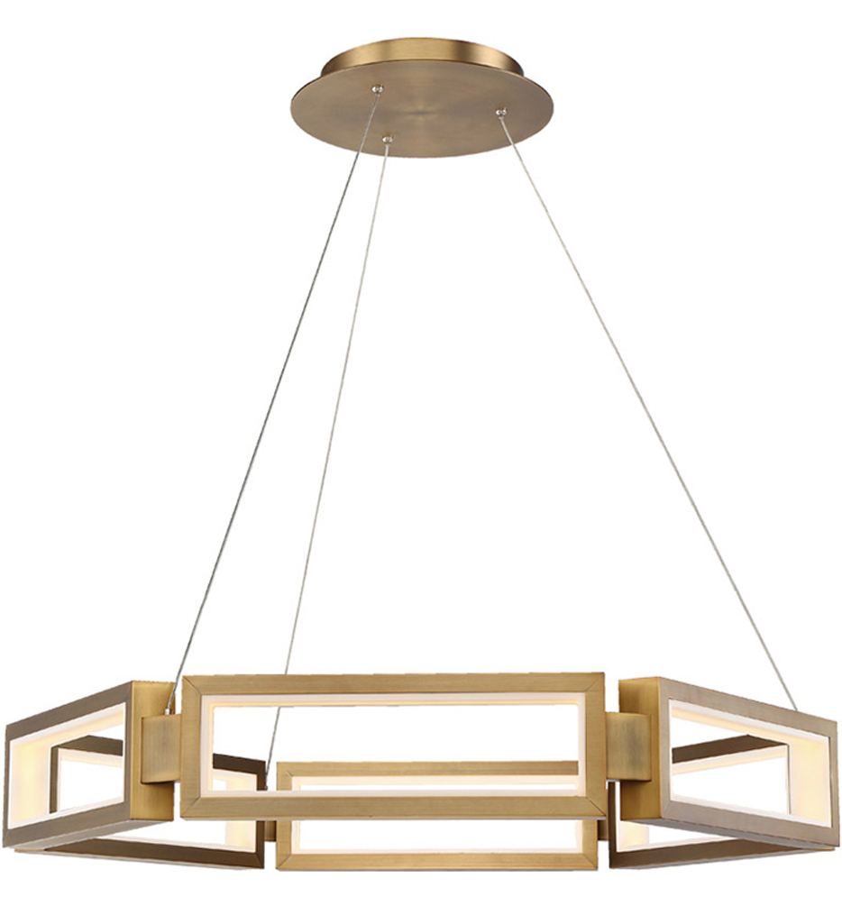 """Mies 35"""" Chandelier"""