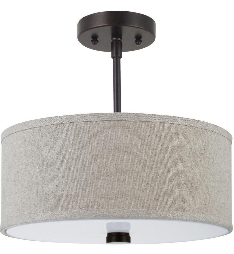 "Dayna Shade Pendants 14"" Semi-Flush"