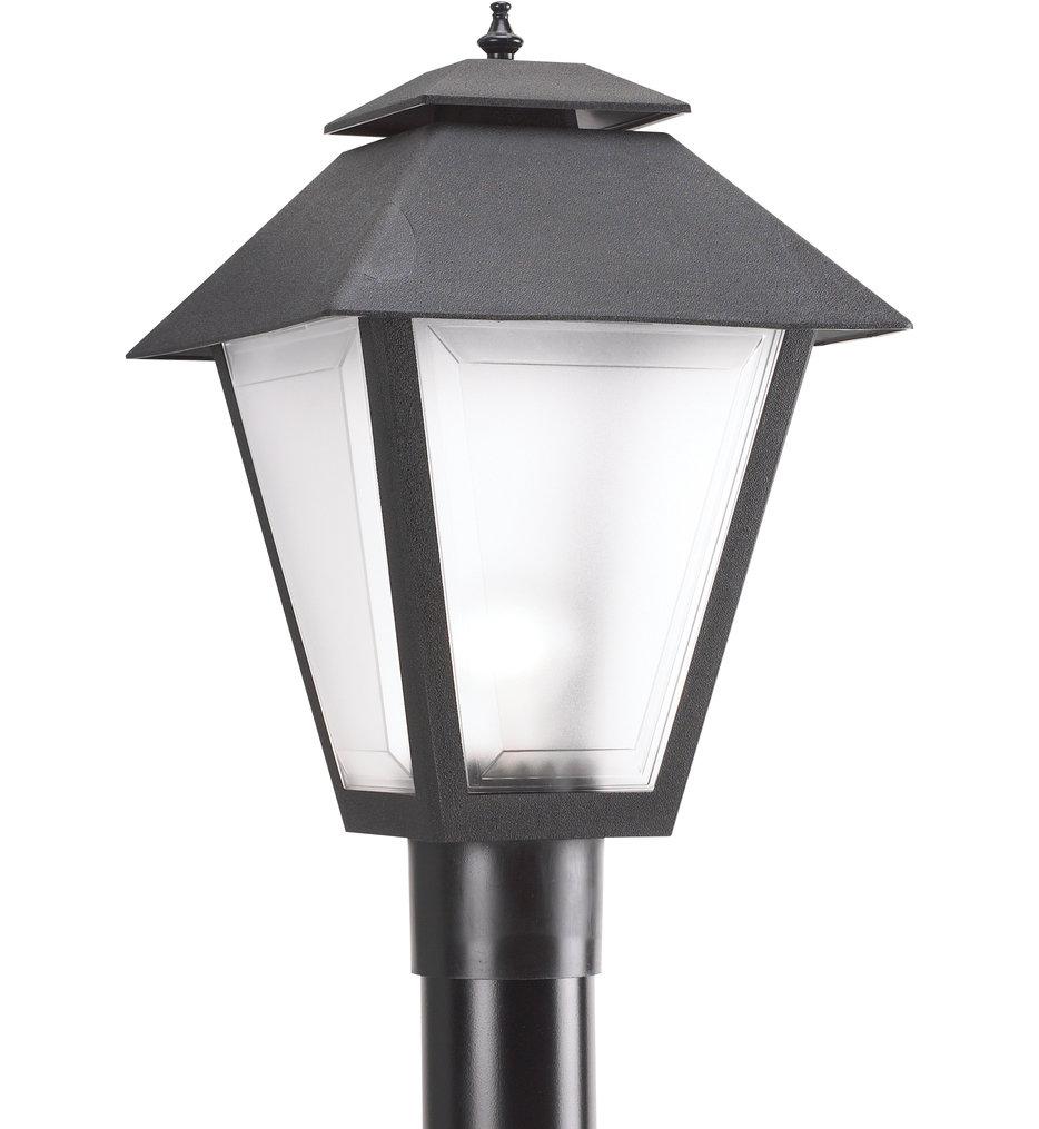 Polycarbonate Outdoor Black 1 Light Outdoor Post Lantern