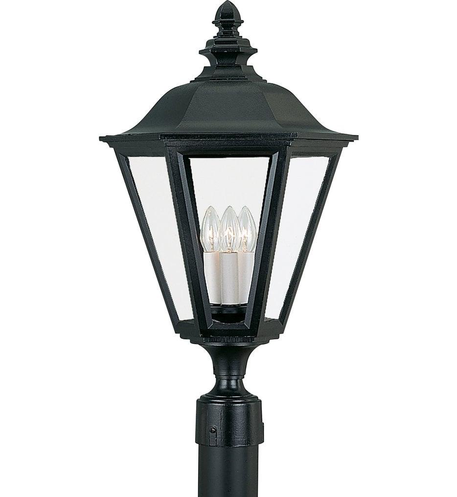 Brentwood 3 Light Incandescent Outdoor Post Lantern