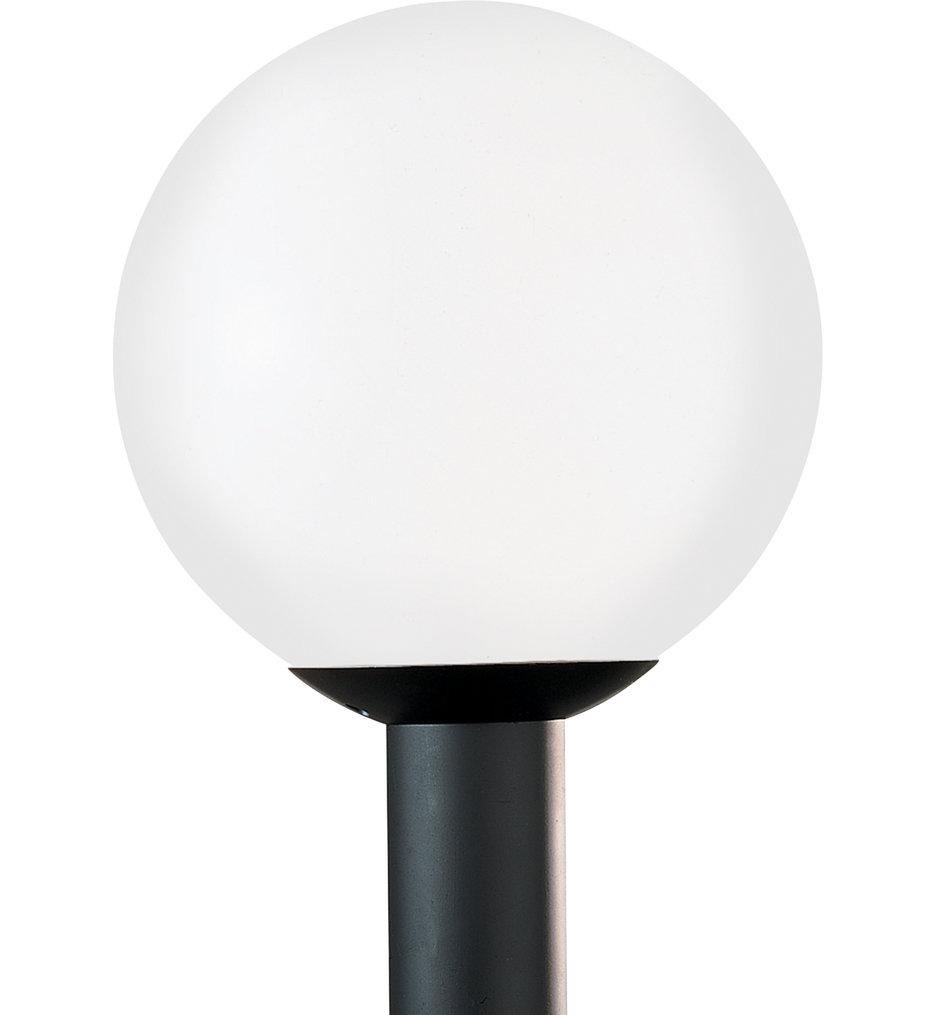 Outdoor Globe White Plastic 1 Light Outdoor Post Lantern