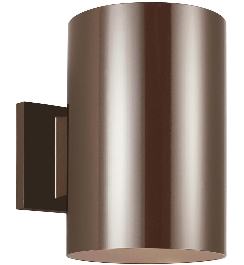 """Outdoor Cylinders 9"""" Outdoor Wall Sconce"""