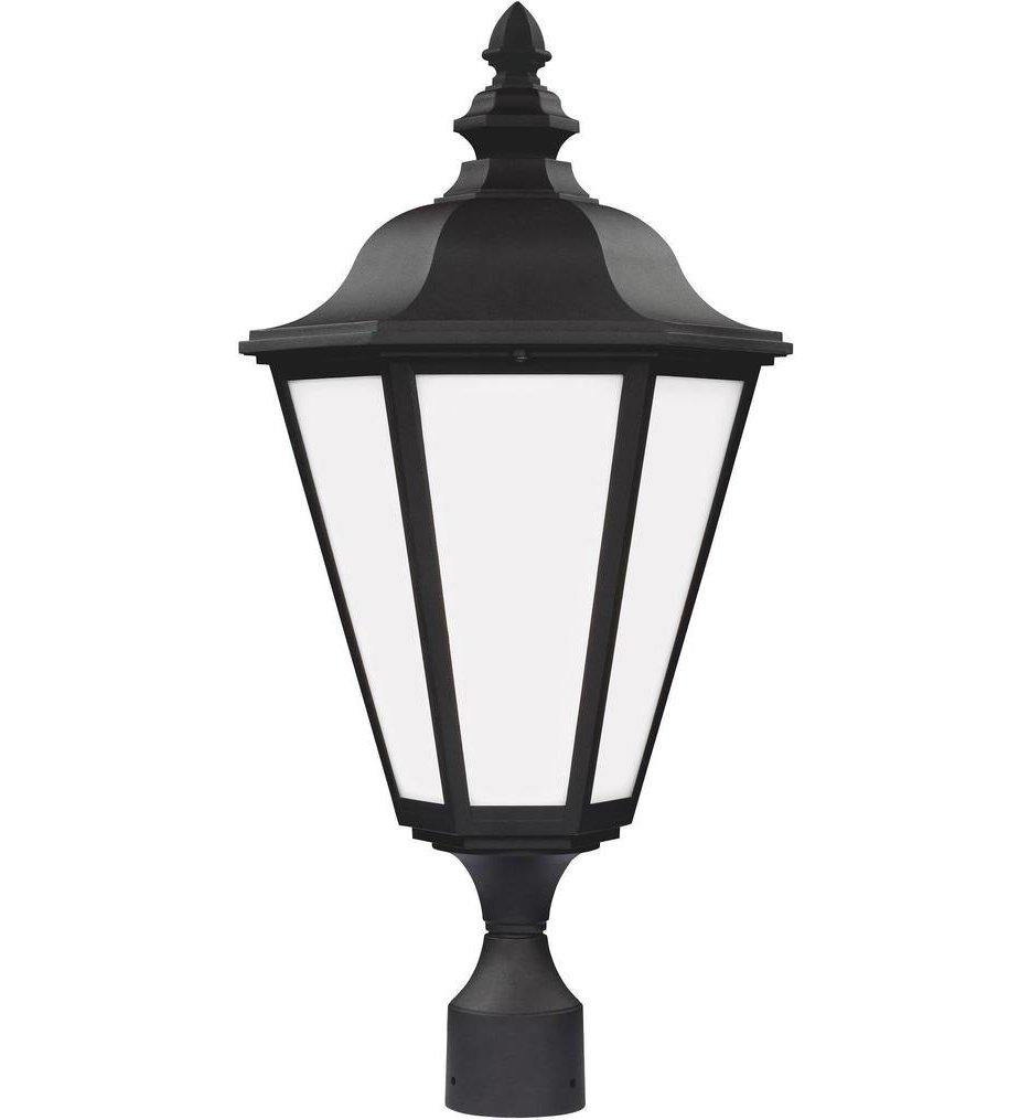 Brentwood Black 1 Light Outdoor Post Lantern