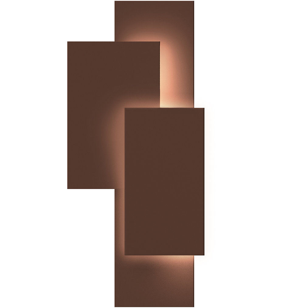 """Offset Panels 20.75"""" Wall Sconce"""