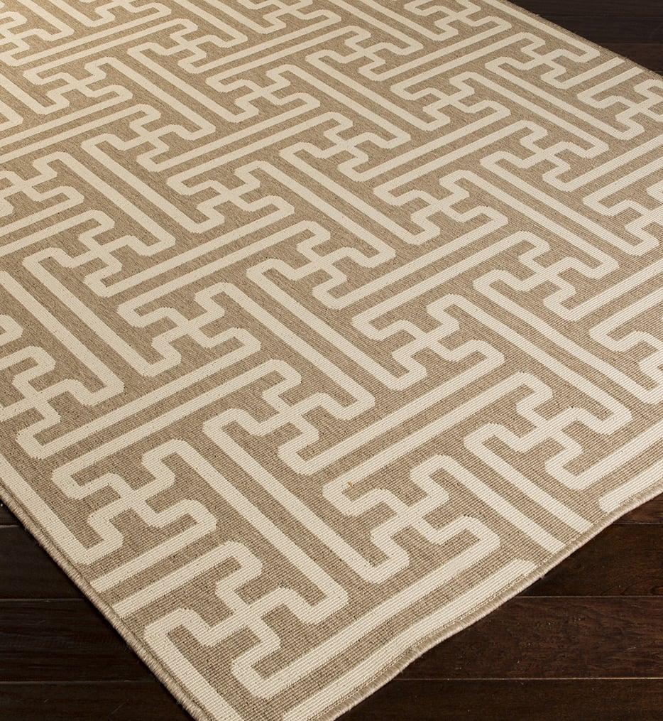 Alfresco Geometric Maze Rug