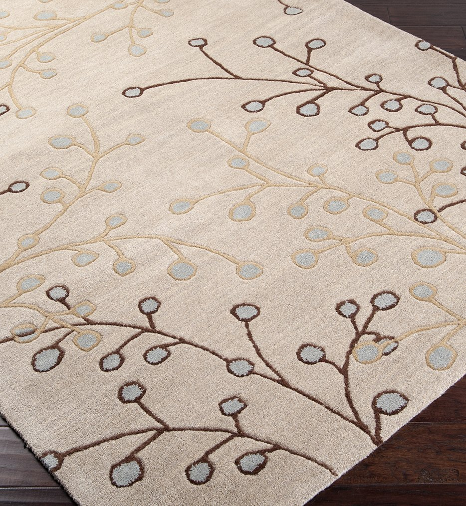 Athena Multi Color Branches Hand Tufted Rug