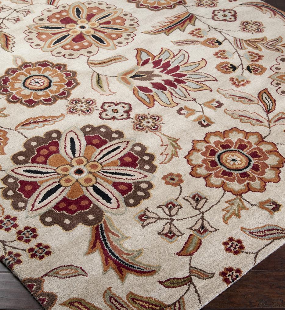 Athena Floral Print Hand Tufted Rug