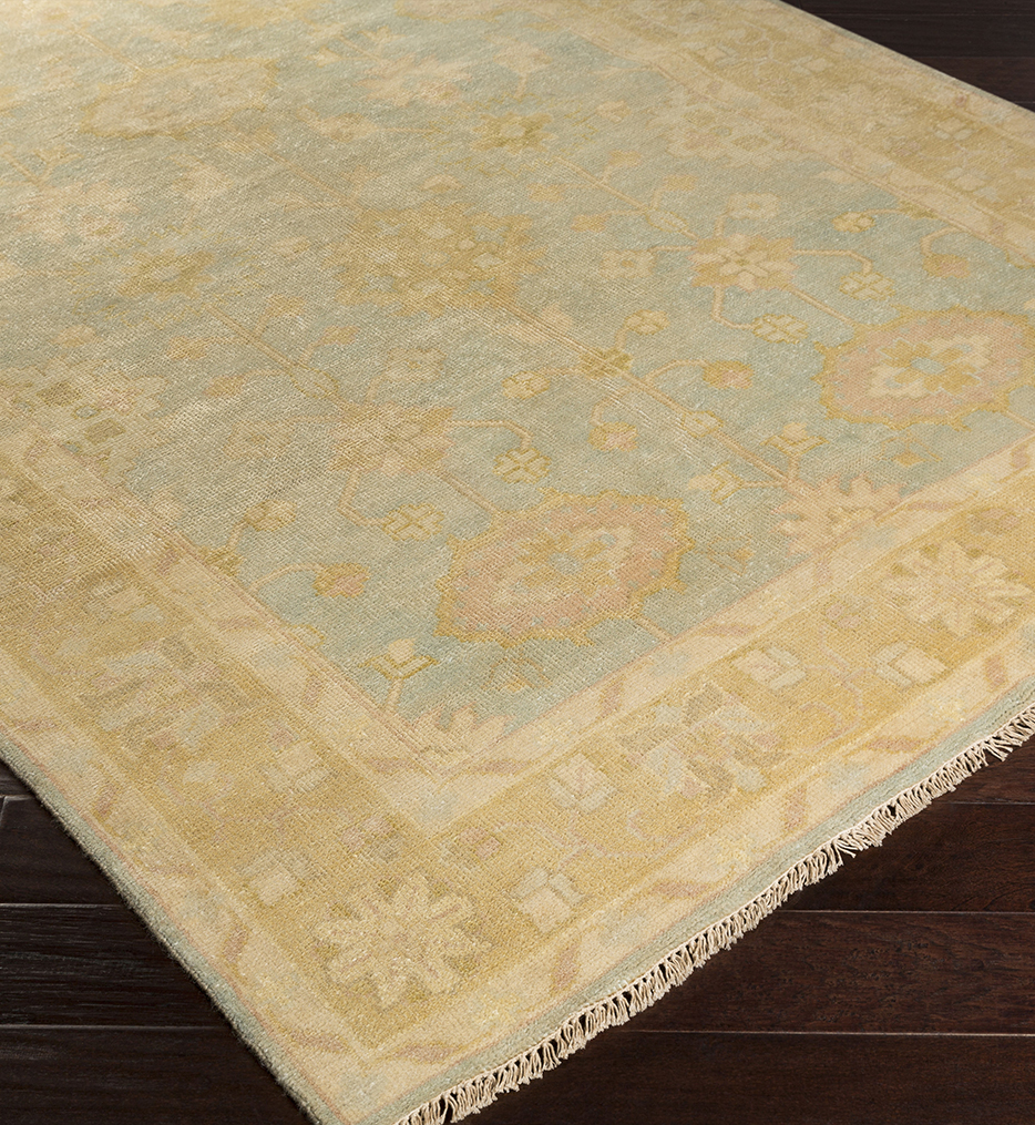 Antique Traditional Border Hand Knotted Rug