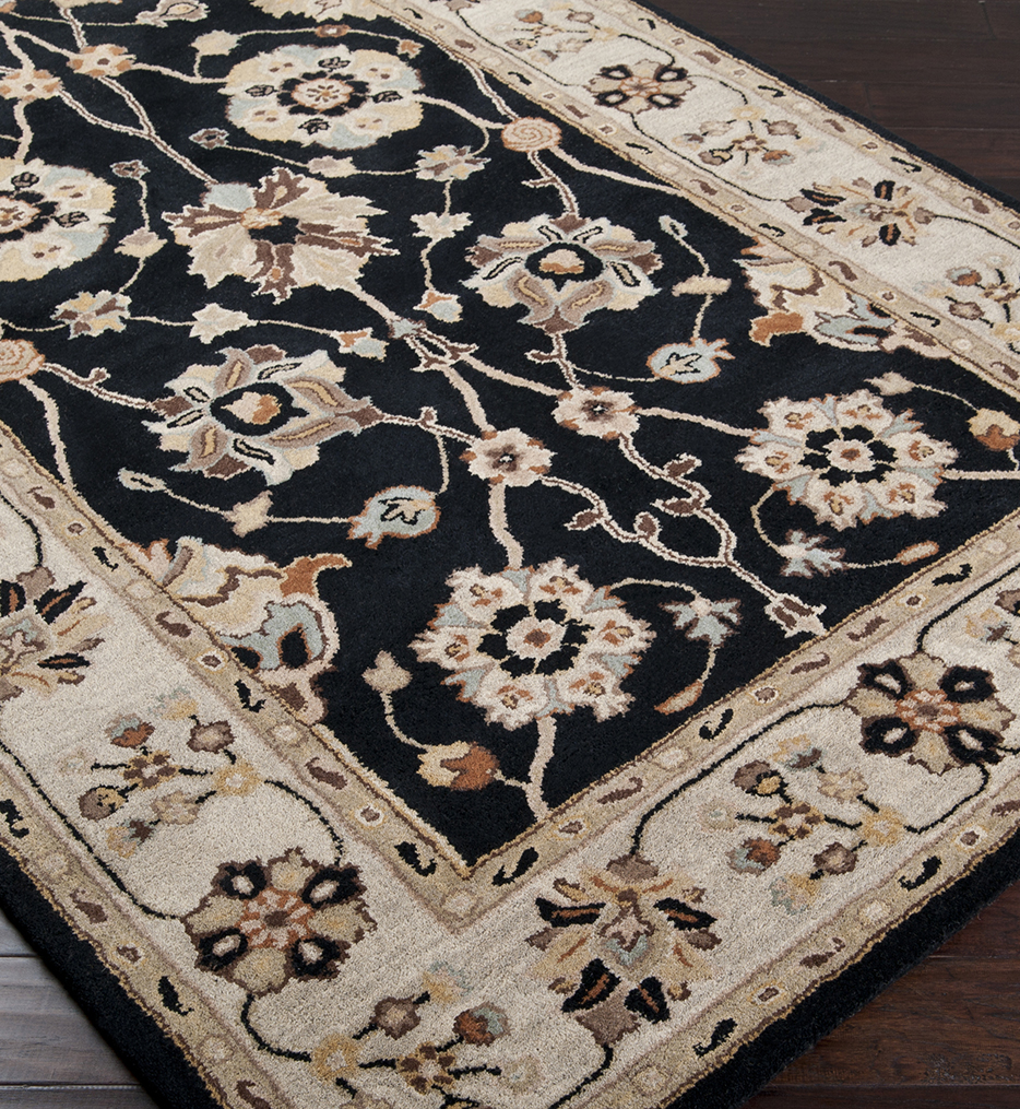 Caesar Floral Vines Traditional Hand Tufted Rug
