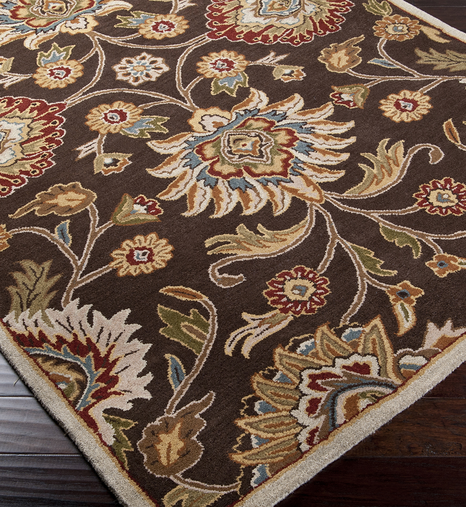 Caesar Floral Traditional Hand Tufted Rug