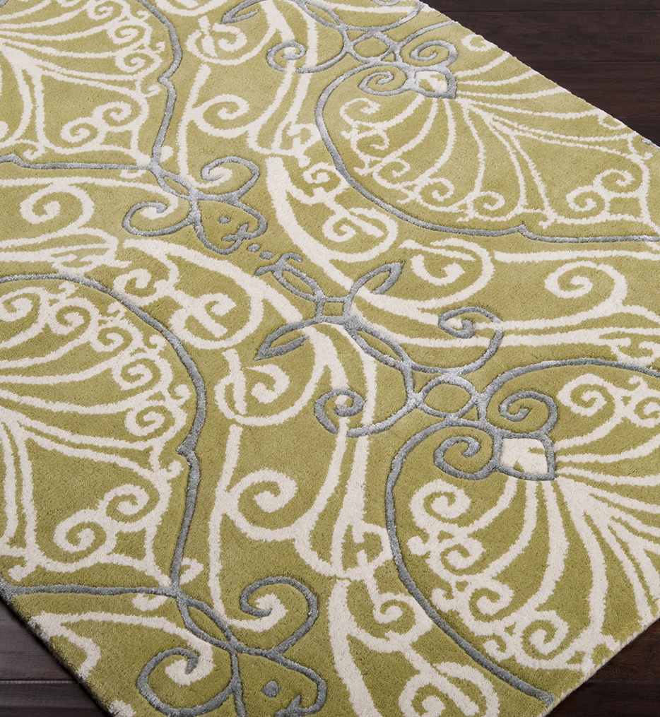 Modern Classics Leaves & Sprigs Traditional Hand Tufted Rug