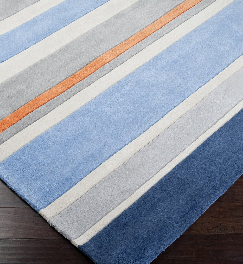 Chic Kids Striped Hand Tufted Rug