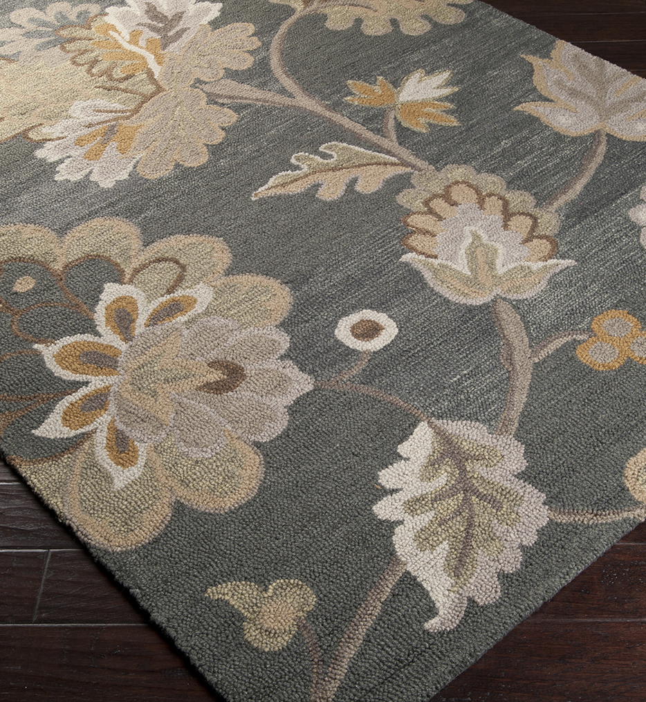 Calypso Floral Transitional Hand Tufted Rug