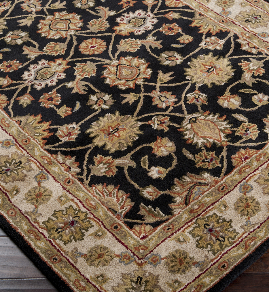 Crowne Traditional Hand Tufted Dark Forest Rug