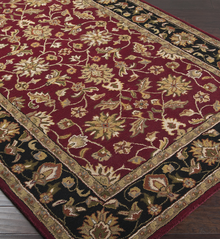 Crowne Traditional Hand Tufted Burgundy Rug