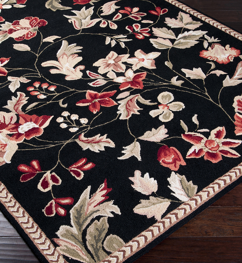 Flor Floral & Paisley Hand Hooked Rug