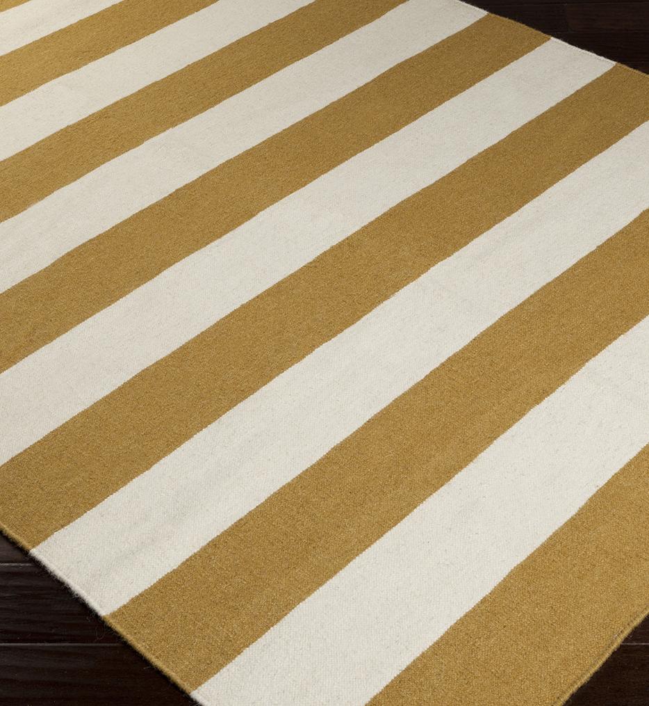 Frontier Wide Stripe Flatweave Hand Woven Rug