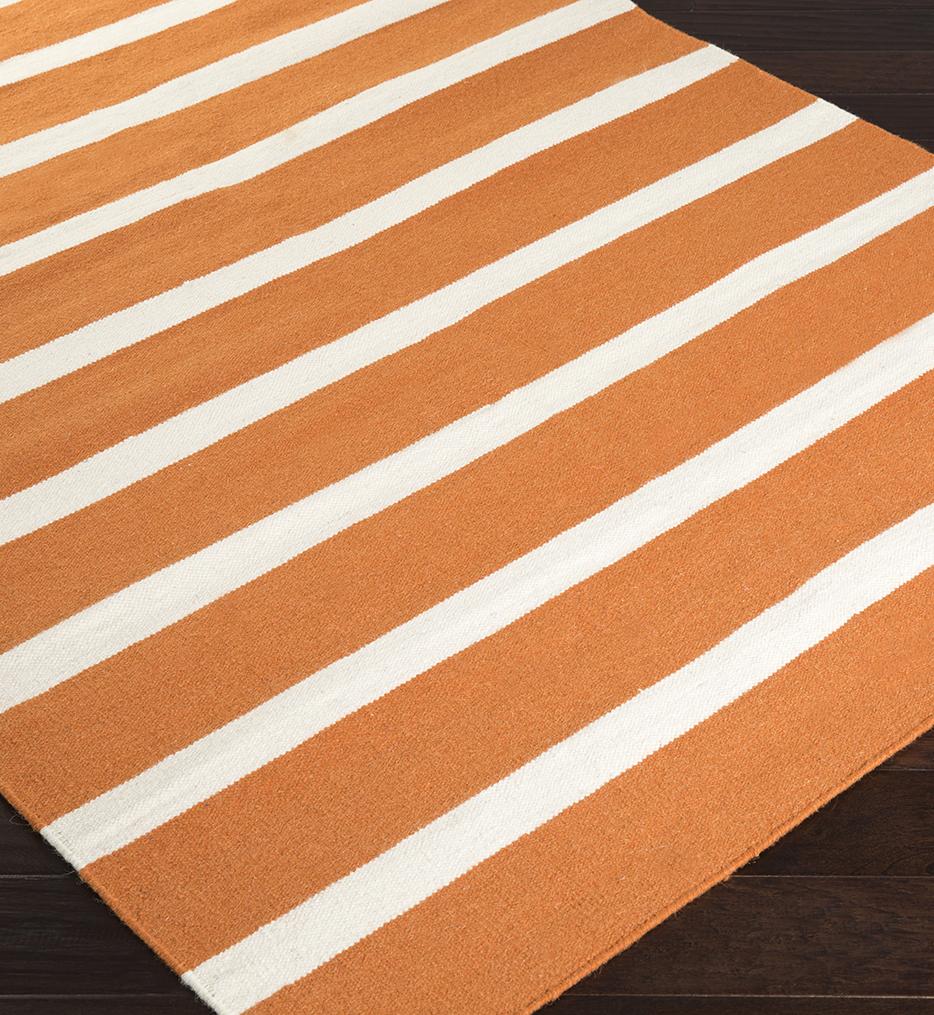 Frontier Slim Stripe Flatweave Hand Woven Rug