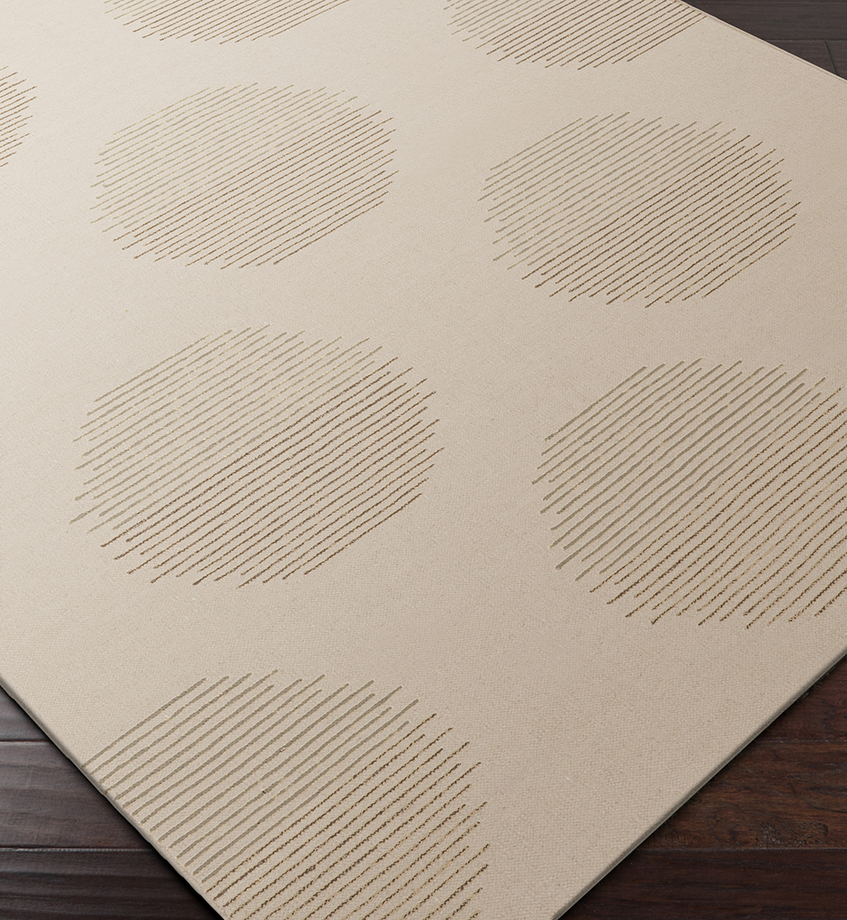 Frontier Lines & Circles Flatweave Hand Woven Rug