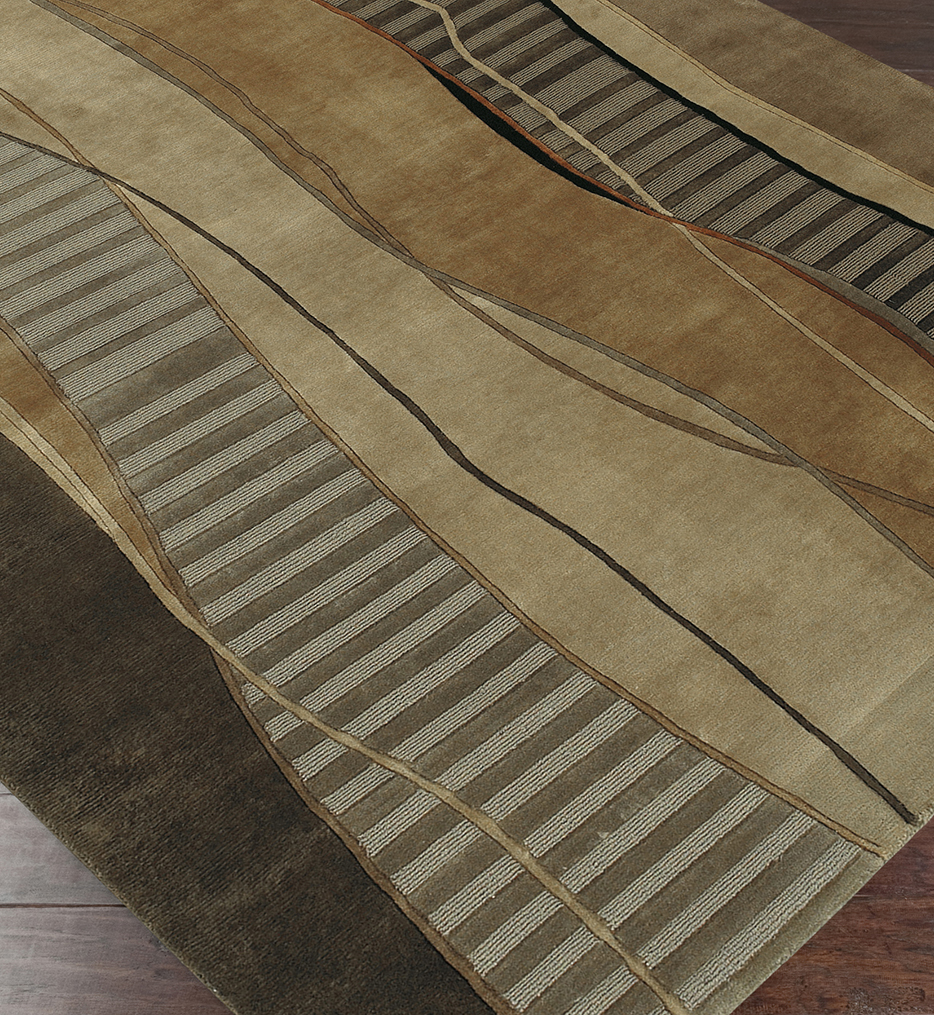 Mugal Solids & Borders Hand Knotted Rug
