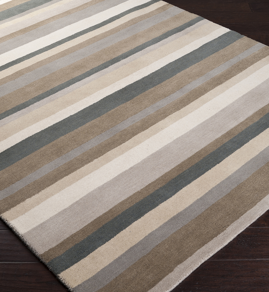 Madison Square Solids & Borders Hand Loomed Rug