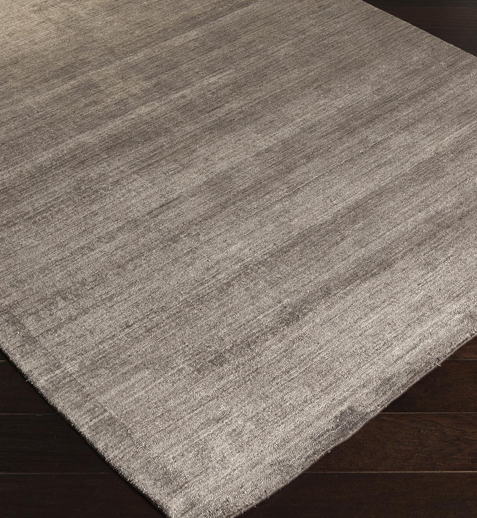 Pure Solids & Borders Hand Loomed Rug