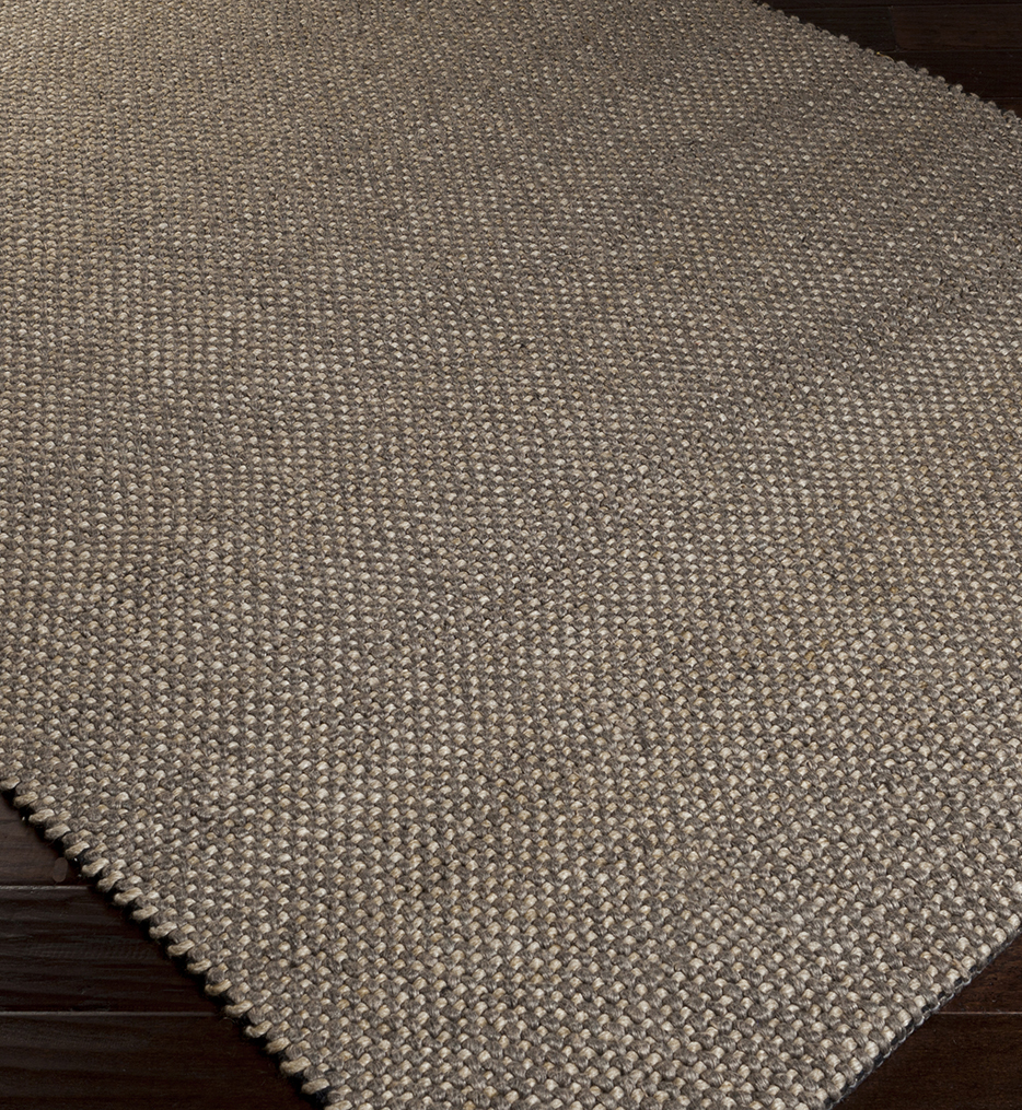 Solo Solids & Borders Hand Loomed Rug