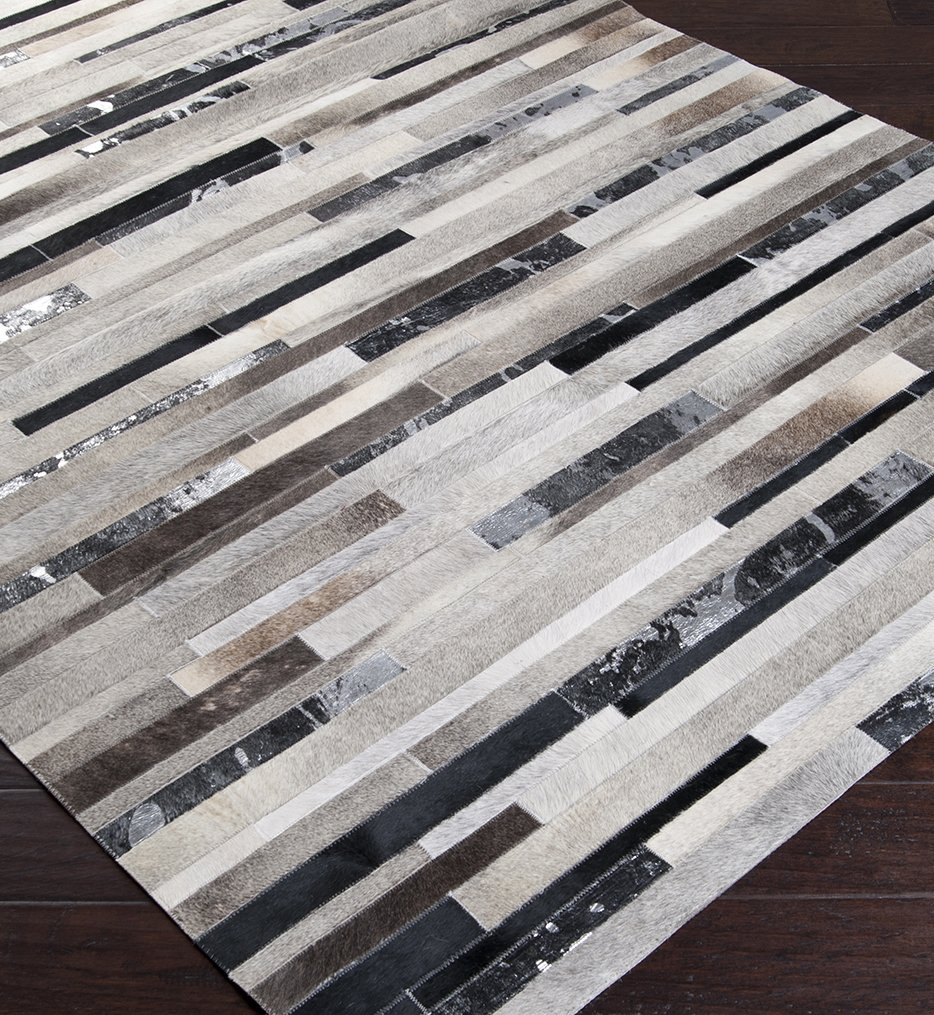 Trail Hides & Leather Hand Crafted Rug