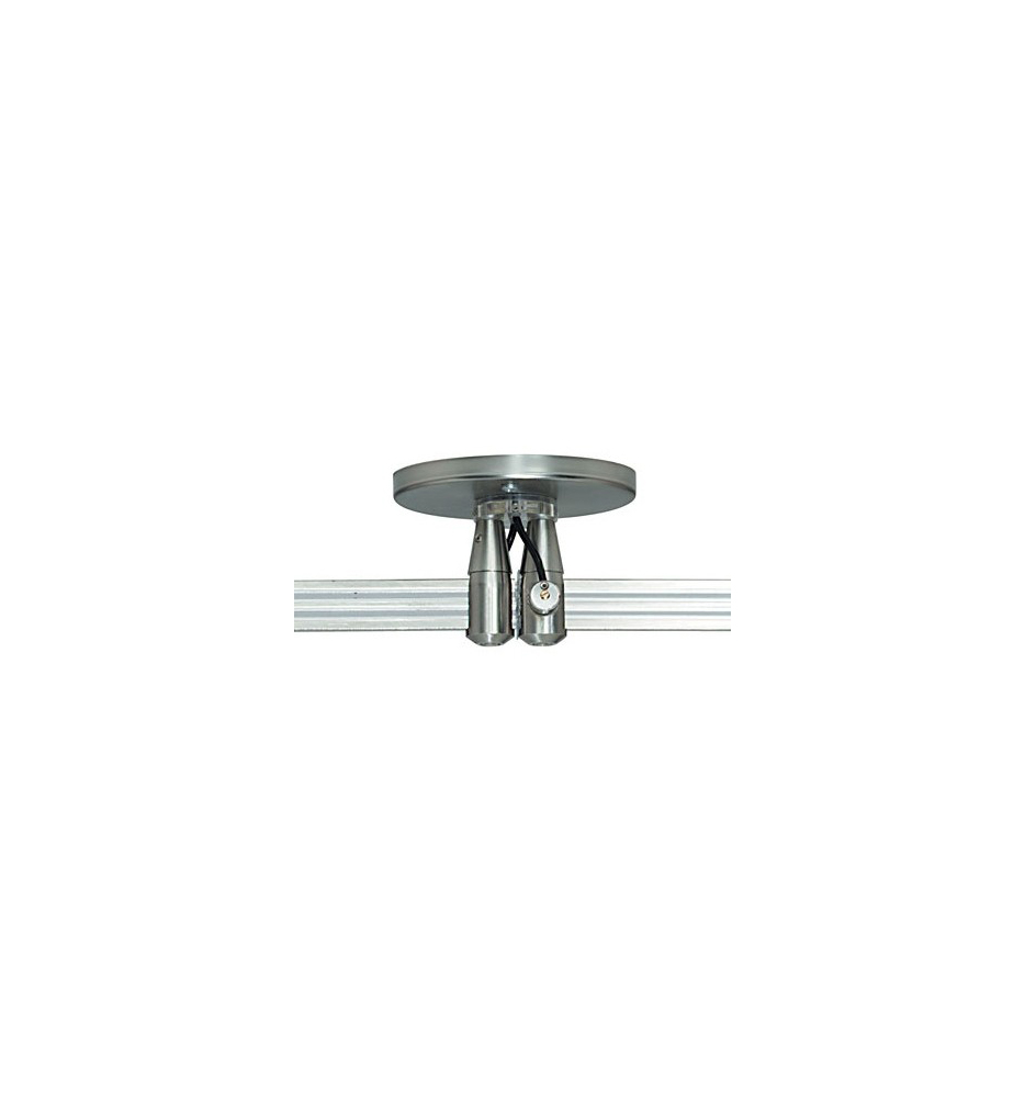 """Monorail 4"""" Round Dual Power Feed Canopy"""