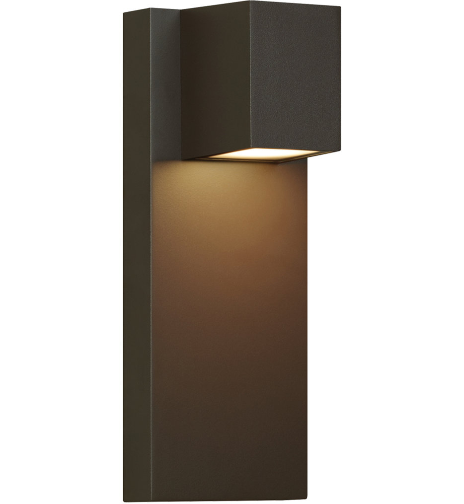 """Quadrate 13"""" Outdoor Wall Sconce"""