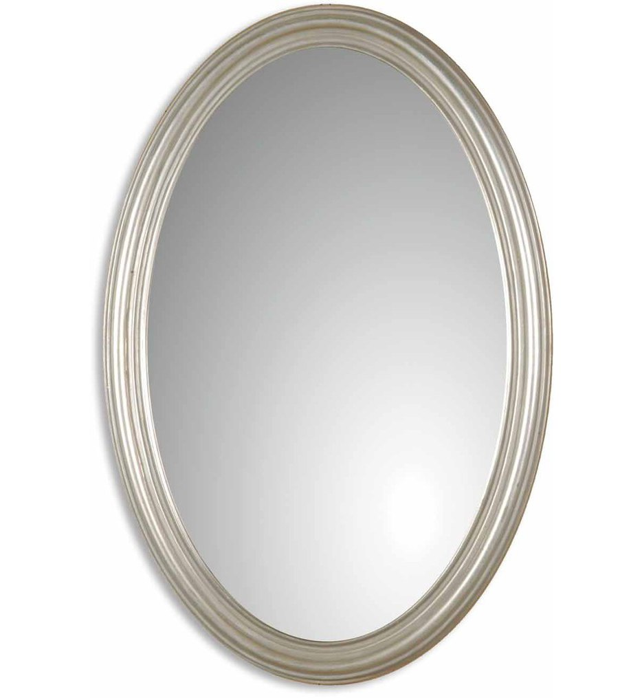 Franklin Oval Silver Mirror