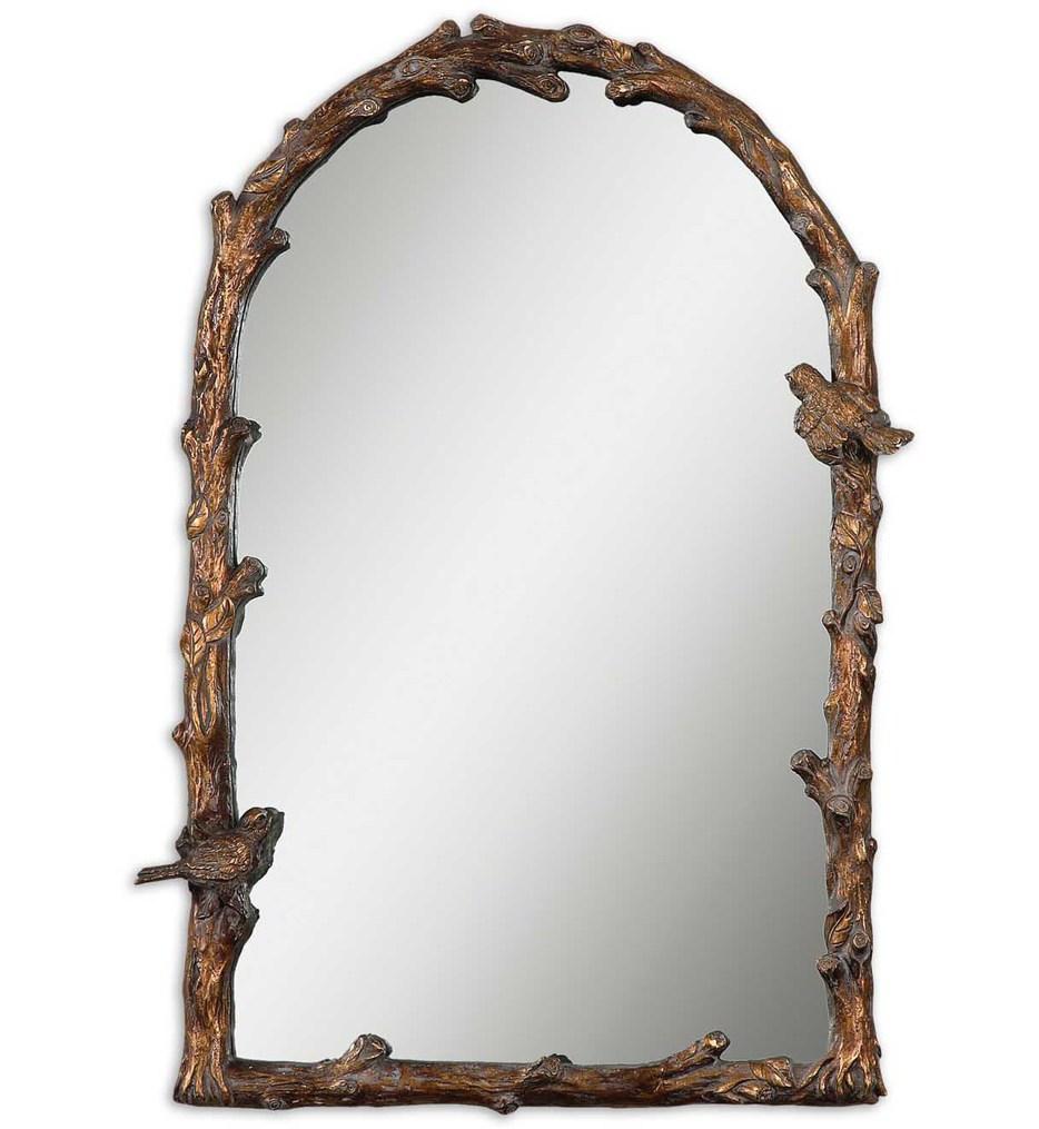 Paza Antique Gold Arch Mirror