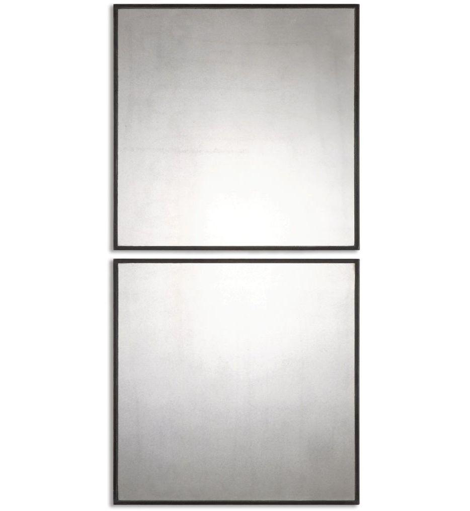 Matty Antiqued Square Mirrors (Set of 2)