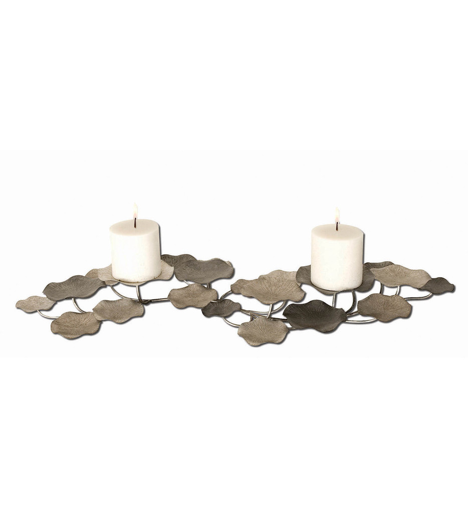 Lying Lotus Metal Candle Holders