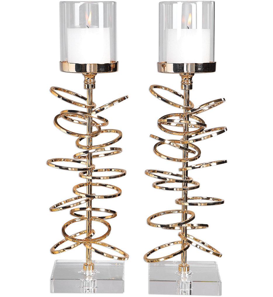 Tala Rose Gold Candleholders (Set of 2)