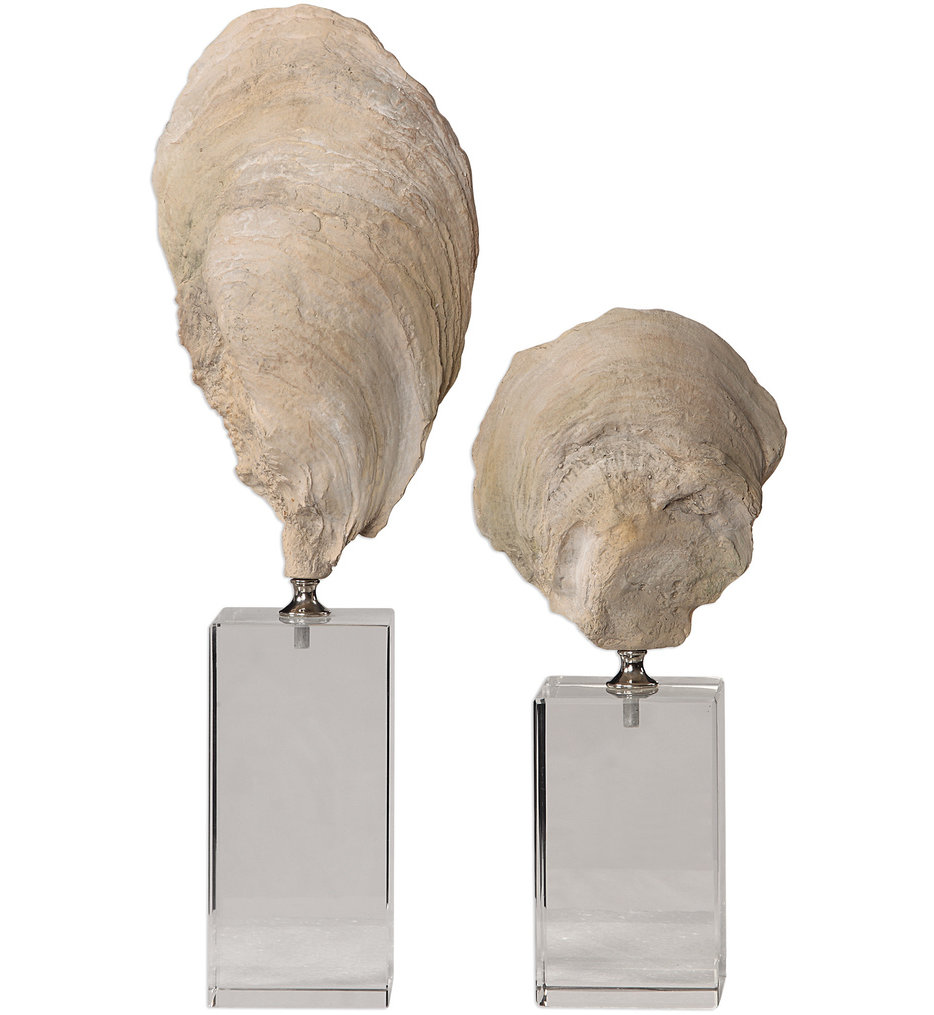 Oyster Shell Sculptures (Set of 2)