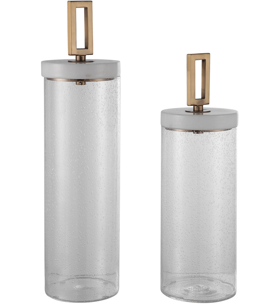 Hayworth Seeded Glass Containers (Set of 2)