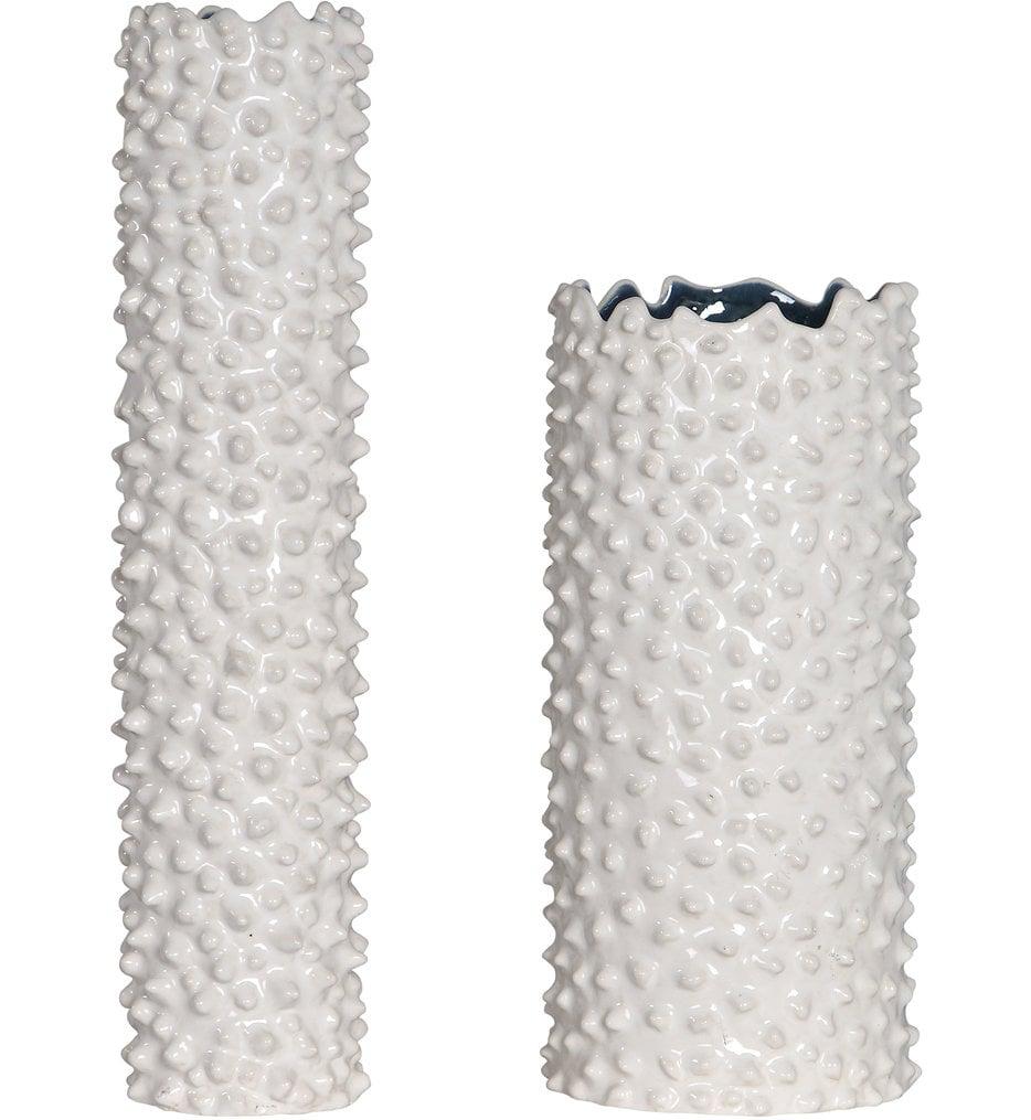 Ciji White Vases (Set of 2)