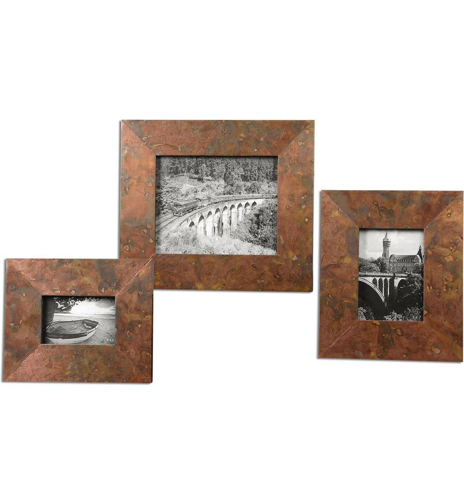 Ambrosia Copper Photo Frames (Set of 3)