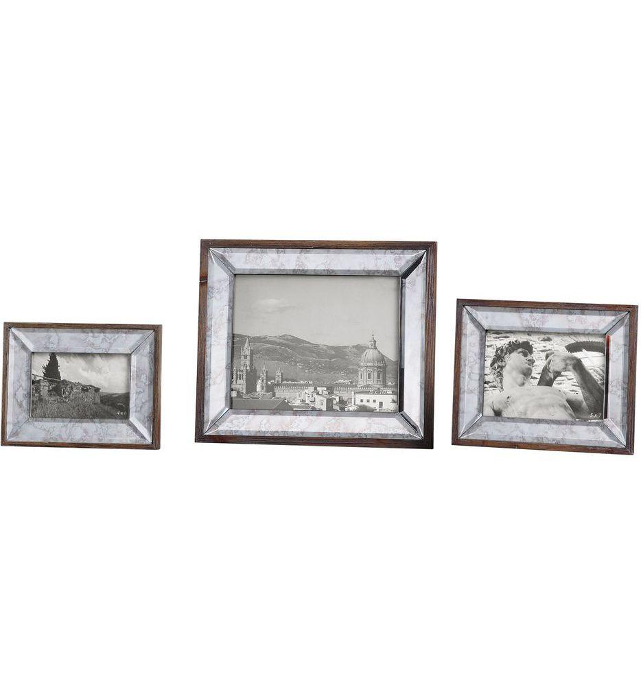 Daria Antique Mirror Photo Frames (Set of 3)
