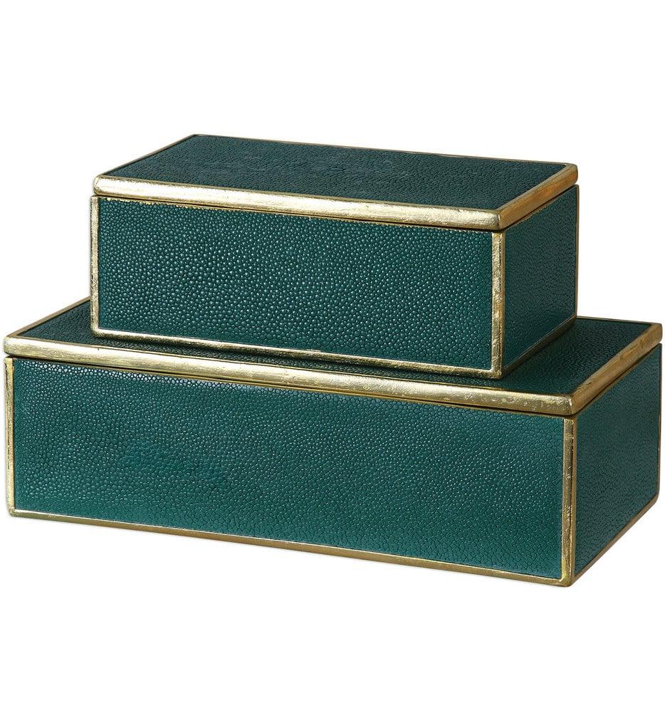 Karis Emerald Green Boxes (Set of 2)