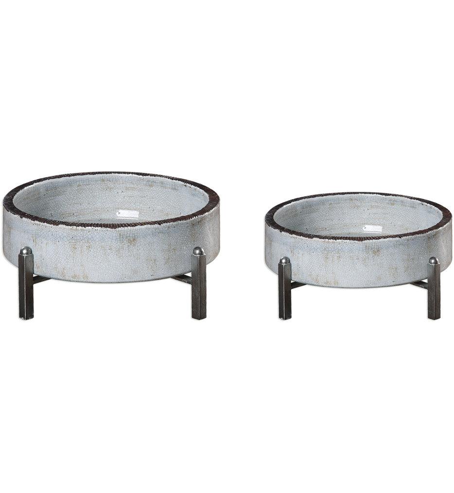 Essie Pale Gray Bowls (Set of 2)
