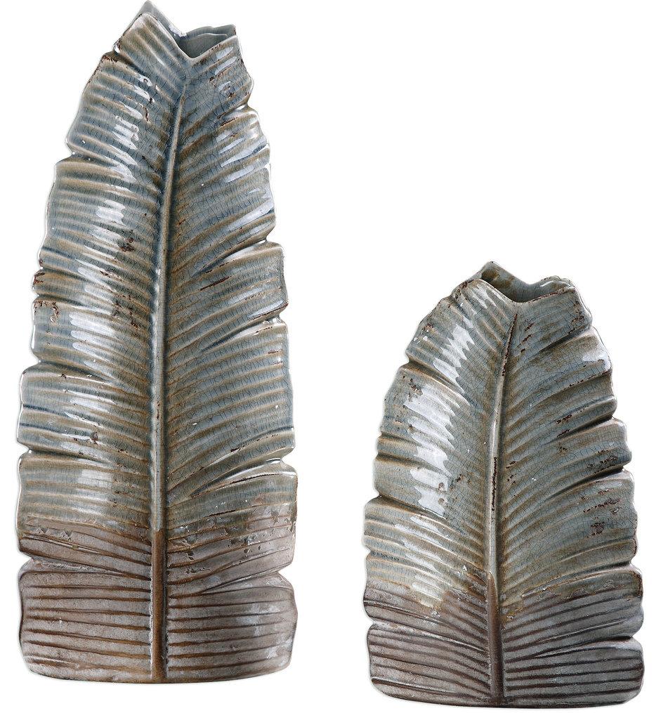 Invano Leaf Vases (Set of 2)