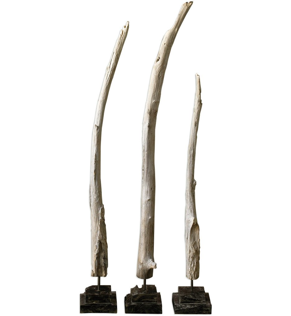 Teak Branches Statues (Set of 3)