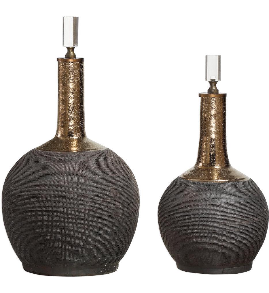 Arnav Matte Black Bottles (Set of 2)