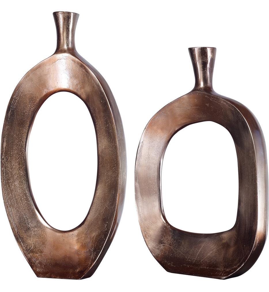 Kyler Textured Bronze Vases (Set of 2)