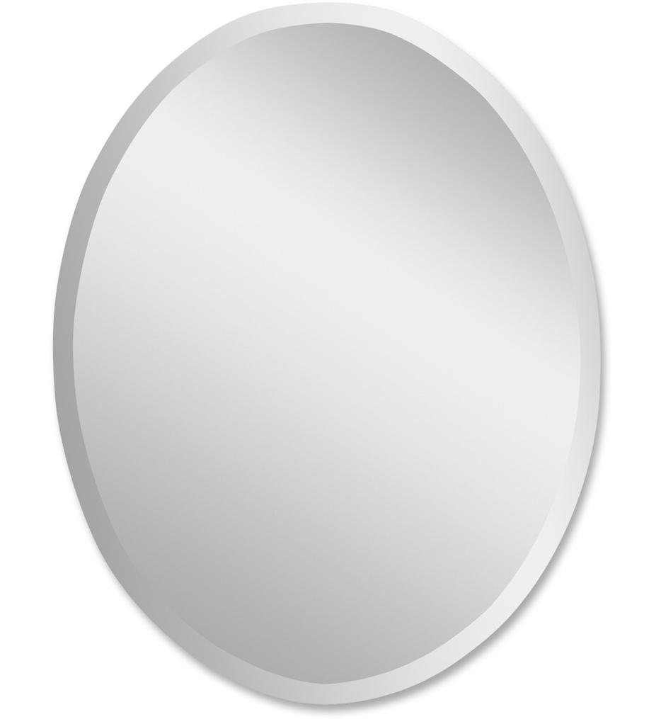 Frameless Vanity Oval Mirror